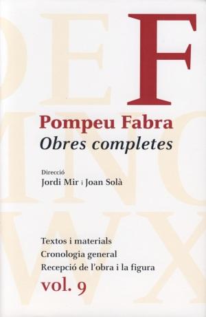 Pompeu Fabra, Obres completes, 9