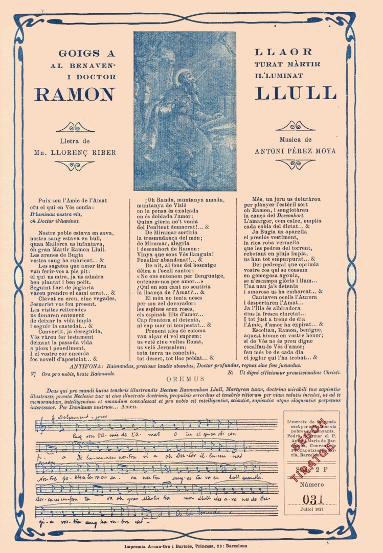 Ramon Llull 27xi goigs 1927 2P 031