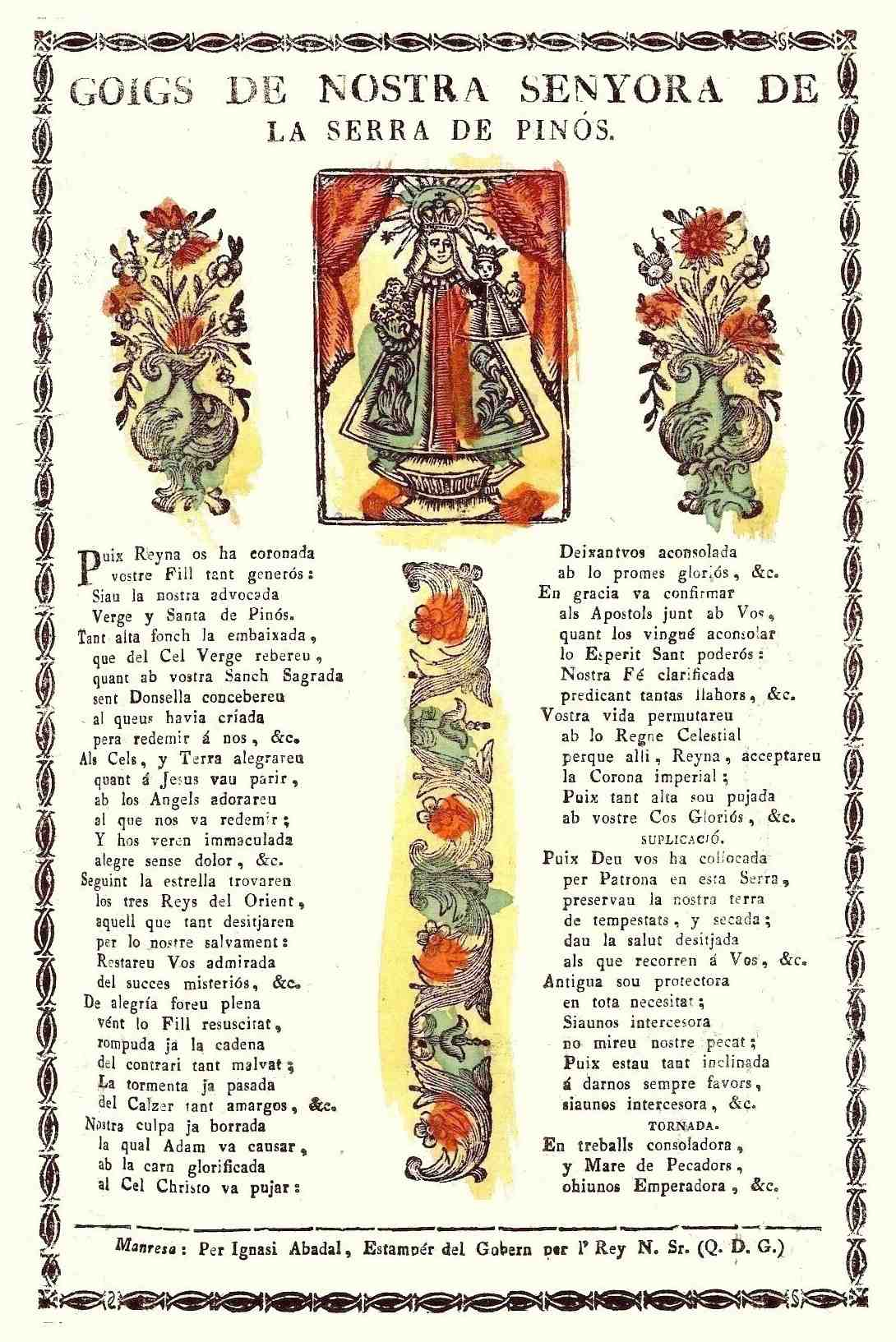 Pomell de goigs del Jardí de Maria de Narcís Camós (1657): Pinós ...