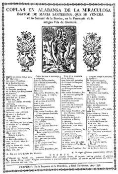 Bovera goigs 1798 Cervera