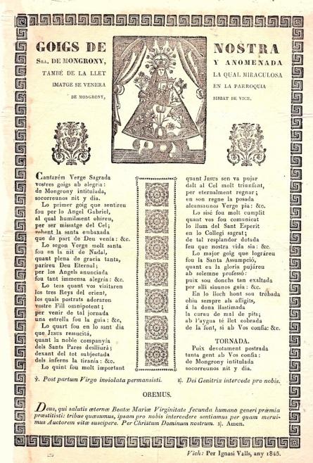 Montgrony goigs 1845 goigs