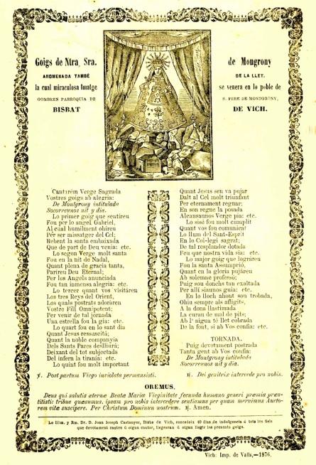 Montgrony goigs 1876