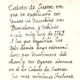 El Calaix de goigs del baró de Maldà (1) – Vademècum